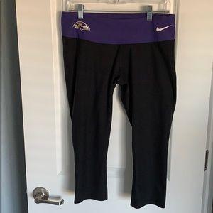 Nike Dri-Fit Baltimore Ravens Capris Size L